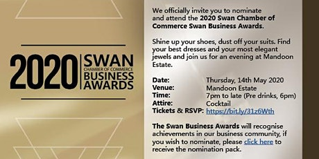 2020 Swan Chamber of Commerce Business Awards tickets