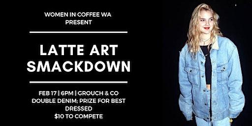 Women in Coffee WA Double Denim Latte Art Smackdown