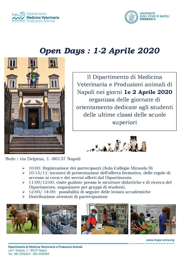 Immagine Open Days Dipartimento di Medicina Veterinaria e Produzioni animali