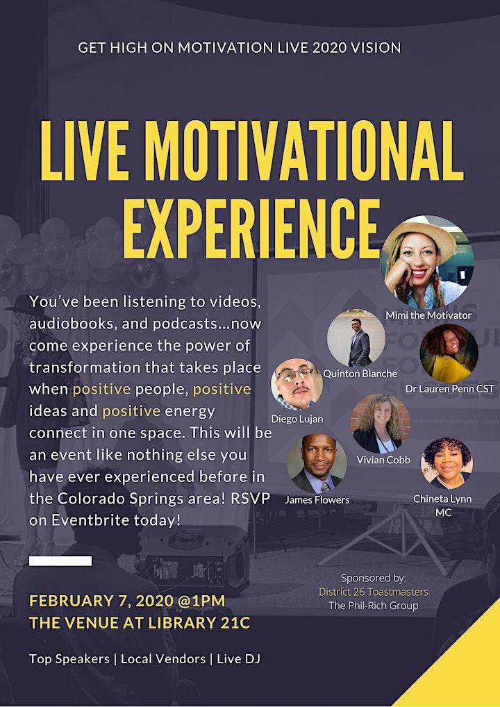 Get High On Motivation LIVE 2020 Vision w/Mimi the Motivator image