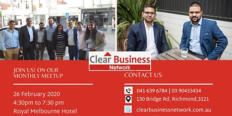 Clear Business Network - 26th February - Melbourne tickets