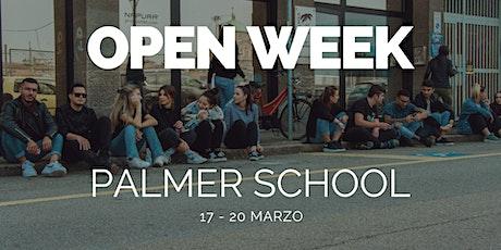 Open Week | Marzo 2020 | Palmer School biglietti