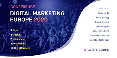 Digital Marketing Europe 2020 tickets