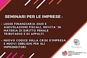LEGGE BILANCIO 2020: MISURE FISCALI E NOVITA' SU PENALE TRIBUTARIO E APPALTI