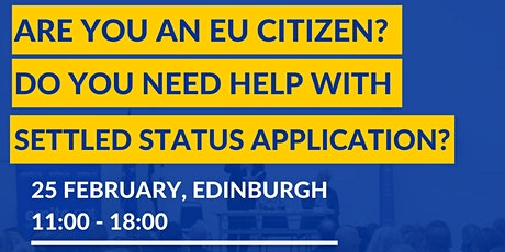 Free information and support session for EU citizens in Edinburgh tickets