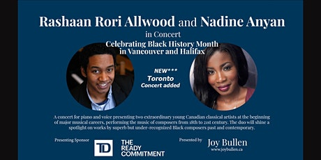Rashaan Rori Allwood and Nadine Anyan in concert for Black History Month tickets