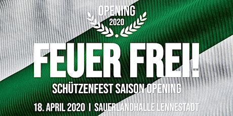 FEUER FREI 2020 -  Schützenfest Saison Opening Tickets