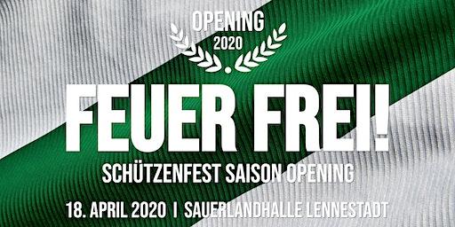 FEUER FREI 2020 -  Schützenfest Saison Opening