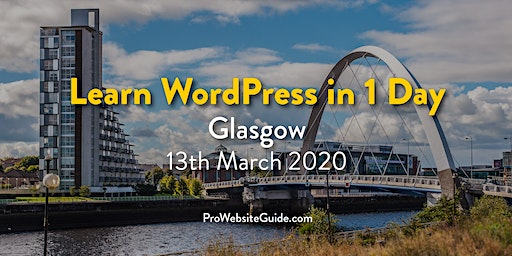 Learn WordPress in 1 Day in Central Glasgow