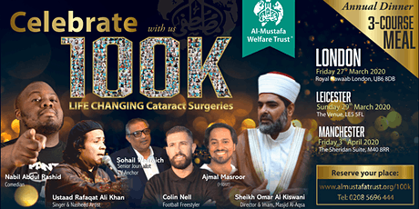 Celebrating 100K Cataract surgeries LEICESTER tickets