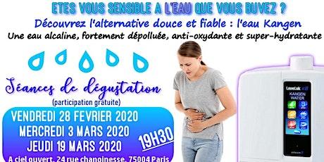 Etes vous sensible à l'eau que vous buvez ? Découvrez l'alternative douce et fiable, l'eau Kangen - Jeudi 19 mars 2020 19H30 Paris billets