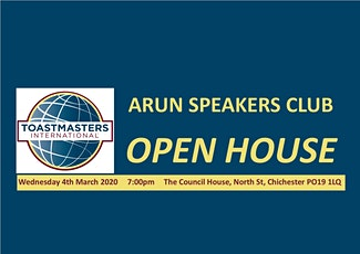 Arun Speakers Club - OPEN HOUSE EVENING tickets