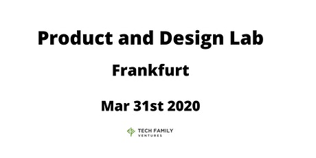 Product and Design Lab Frankfurt 2020 Tickets