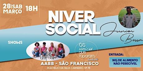 Aniversário Junior Bessa e CASAMENTO social!!! ingressos