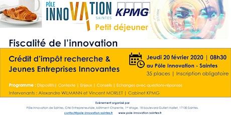 Petit Déjeuner Crédit d'Impôt Recherche et Jeunes Entreprises Innovantes billets