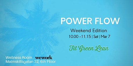 Power Flow Yoga | with Fit Green Lean biljetter