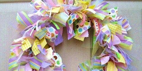 Crazy Crafty Chicks - Shabby Chic Fabric Wreaths