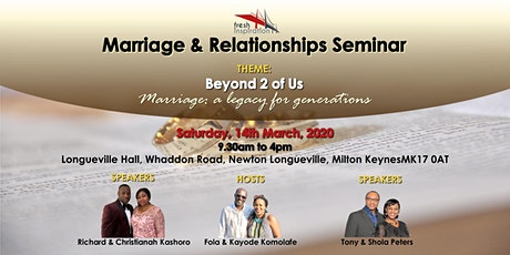Marriage Seminar : Beyond 2 of Us tickets