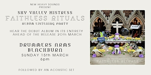 Faithless Rituals Album Listening Party: Drummers Arms - BLACKBURN