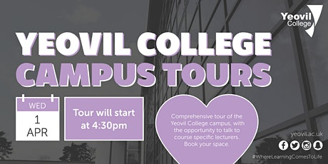 Cancelled - Individual Yeovil College Campus Tours tickets