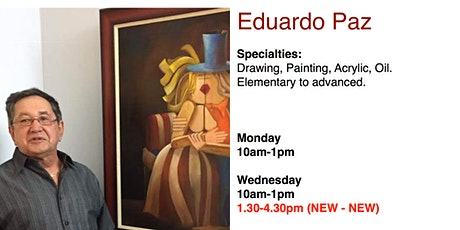 Painting & Drawing Classes with Prof. Eduardo Paz billets