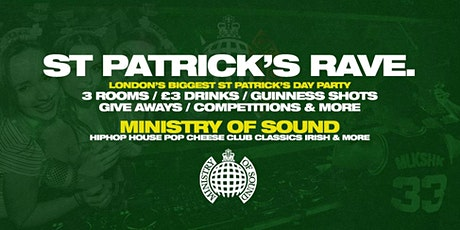 St Patrick's Day Rave at Ministry of Sound tickets