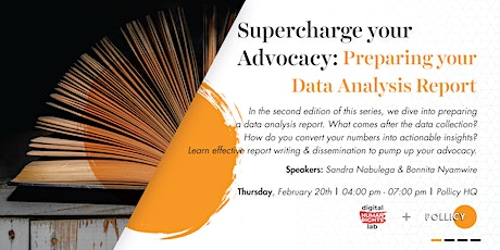 SUPER CHARGING YOUR ADVOCACY: Preparing Your Data Analysis Report tickets