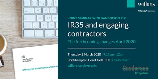 IR35 and engaging contractors - the forthcoming changes April 2020