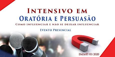 Intensivo Oratória Master, Persuasão e PNL ingressos