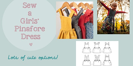 Learn to sew a girl's pinafore dress tickets