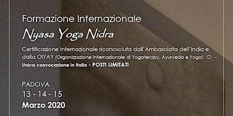 NYASA YOGA NIDRA - Formazione Internazionale biglietti