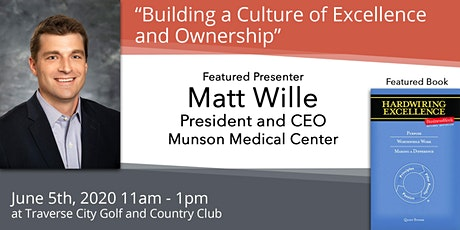 "Postponed - Matt Wille, ""Building a Culture of Excellence and Ownership"" tickets"
