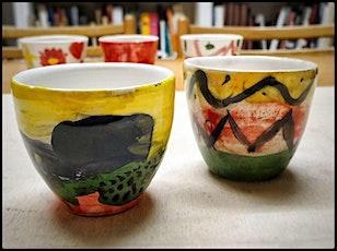 Corso di ceramica - Tazzine biglietti