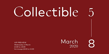 Exclusive Preview — COLLECTIBLE Design Fair 2020 — Brussels, Belgium tickets