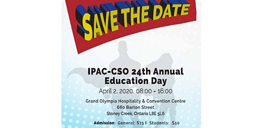 IPAC-CSO 24th Annual Infection Prevention & Control Education Day 2020
