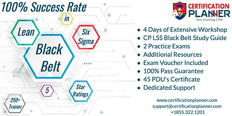 Lean Six Sigma Black Belt(LSSBB )Certification Training in Greenville tickets