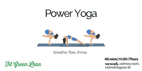 Power Yoga | strong lunchtime flow tickets