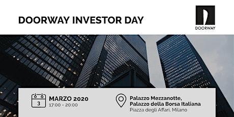 Doorway Investor Day Milano biglietti