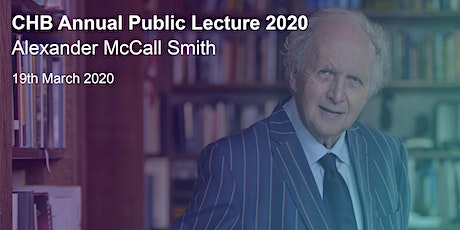 CHB Annual Public Lecture 2020: Alexander McCall Smith tickets