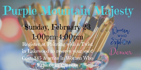 Women Who Explore Denver: Painting With A Twist tickets