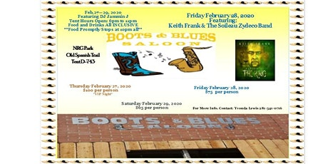 Boots and Blues Bar-B-Que CookOff tickets