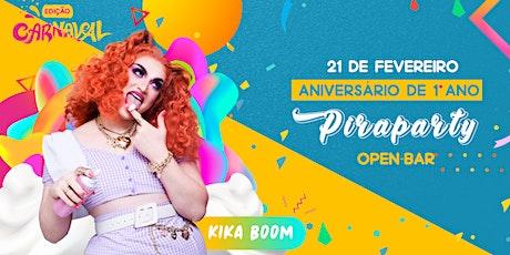 Aniversário de 1° Ano Piraparty ll Show Kika Boom  ingressos