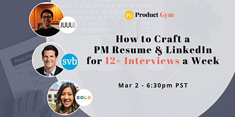 How to Craft a Product Manager Resume & LinkedIn for 12+ Interviews a Week  tickets