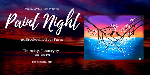 Paint Night at Brookeville Beer Farm