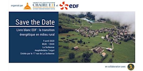 Livre blanc EDF : la transition énergétique en milieu rural billets