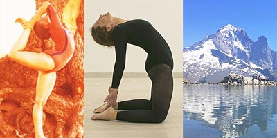 Centered yoga by Dona Holleman held by Francesca Petrilli in Chamonix