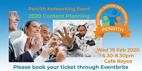 Business Action Networking Penrith - 2020 Content Planning tickets