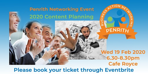 Business Action Networking Penrith - 2020 Content Planning