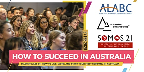 Masterclass: How to Succeed in Australia tickets