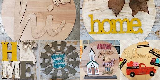 Wood Cut out/Door Hanger workshop